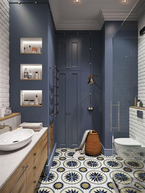 idee decoration salle de bain salle deau gris bleu