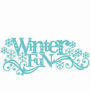 Winter Fun Title SVG scrapbook cut file cute clipart files ...