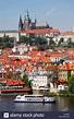 St. Vitus Cathedral and Prague Castle skyline in Prague ...