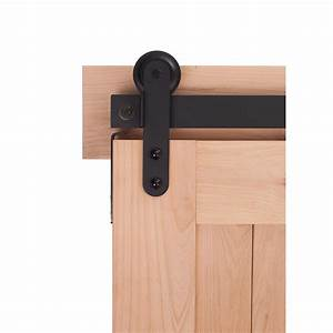 ironwood 7 ft high rise barn door system in flat black With 7 ft barn door track
