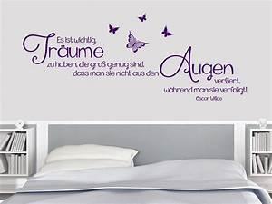Wandtattoo Für Schlafzimmer : wandtattoo tr ume die gro genug sind bei ~ Buech-reservation.com Haus und Dekorationen