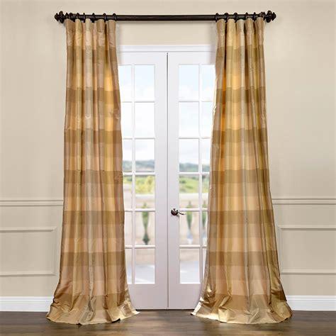 Plaid Curtains And Drapes - newman silk taffeta plaid curtains drapes