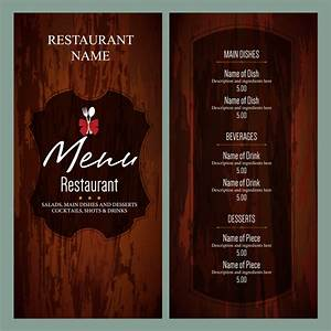 vintage restaurant menu templates free vector in adobe With html menu templates free download