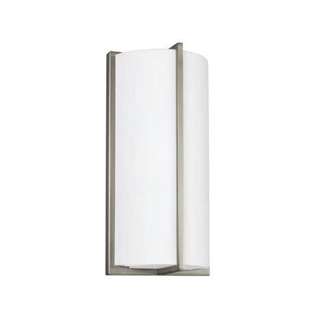 sea gull lighting ada wall sconces watt brushed nickel integrated led sconce 4934093s 962
