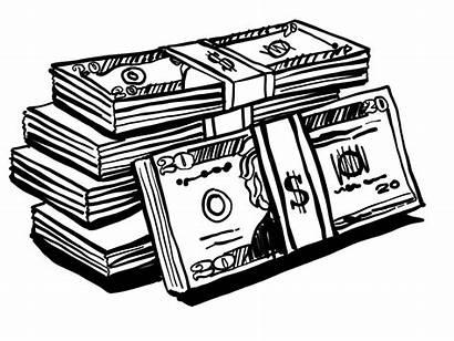 Money Drawing Cash Draw Line Wealth Rich