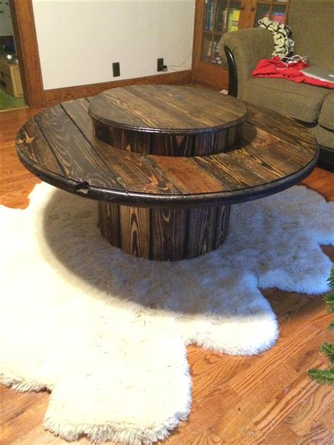 hand  cable spool table  caveman carpentry