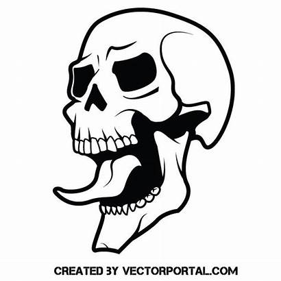 Skull Tongue Vector Stencil Clipart Serigrafia Tattoo