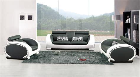 canapé noir et blanc canape design blanc et noir