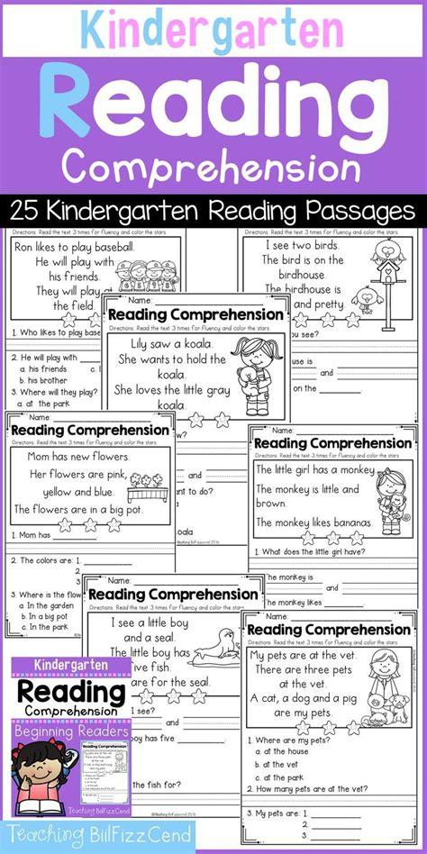kindergarten reading comprehension set  reading