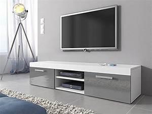 Tv Schrank Weiß Matt : tv m bel lowboard schrank st nder mambo wei matt grau hochglanz 160 cm wohnw nde com ~ Bigdaddyawards.com Haus und Dekorationen