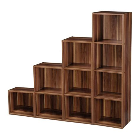 Wooden Bookcase by 2 3 4 Tier Wooden Bookcase Shelving Display Storage Wood
