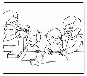 Dibujos De Ninos Leyendo Libros Para Colorear Imagui