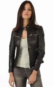 Veste Style Motard Femme : blouson cuir noir style motard rose garden la canadienne ~ Melissatoandfro.com Idées de Décoration