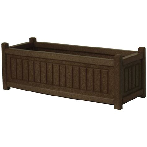 plastic planter boxes eagle one nantucket recycled plastic patio planter box