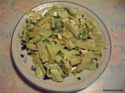 cuisiner les pousses de bambou salade aux pousses de bambou avocats et pommes les bons