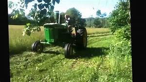 John Deere 4020 Diesel Mowing Hay