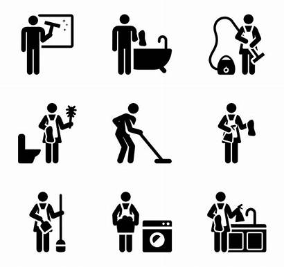 Cleaning Icons Pictograms Icon Housekeeping Clean Vector