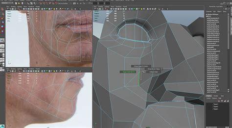 topology  animation modeling  head  maya lesterbanks