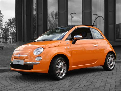 Fiat 500 Orange fiat 500 orange specially made for the netherlands