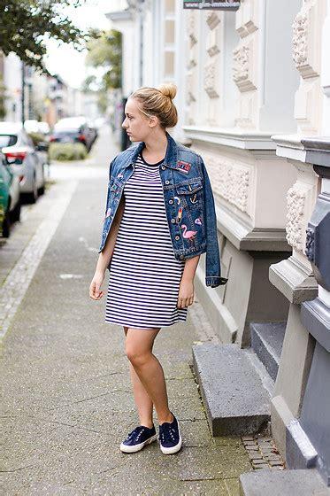 viviane lenders zara striped shirt dress diy patches