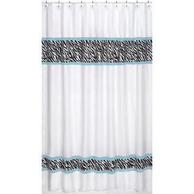 sweet jojo zebra curtains zebra turquoise fabric shower curtain townhouse linens