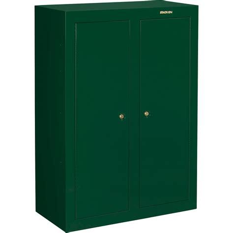 Stackon Convertible Double Door Gun Cabinet — Green, Key