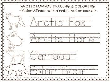arctic animal activities for preschool arctic animal trace amp color freebie with 12 arctic animals 790