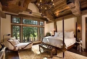Rustic bedrooms design ideas canadian log homes for Interior design ideas rustic look