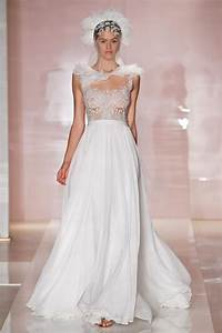 24 dreamy wedding gowns from reem acra fall 2014 onewed With bride wedding dress