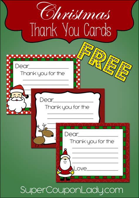 free christmas thank you cards christmas christmas thank you christmas printables