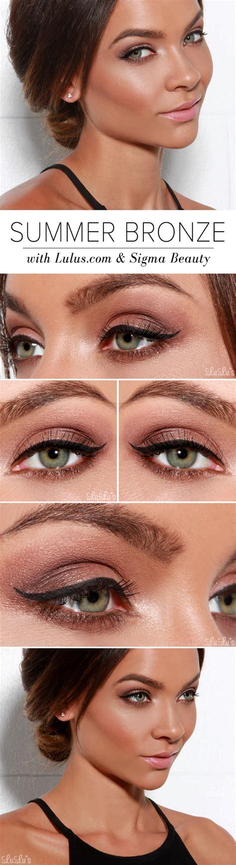 summer bronze makeup  sigma beauty luluscom fashion blog