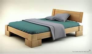 Lit En Bois Massif : lit en bois massif design pour chambre adulte veron ~ Teatrodelosmanantiales.com Idées de Décoration