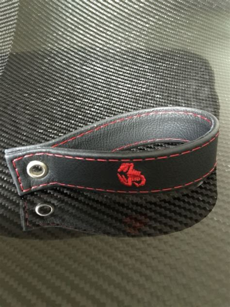 leather tailgate pull  strap