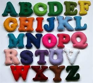 Alphabet set 26 stuffed felt letters upper case fancy for Felt letters