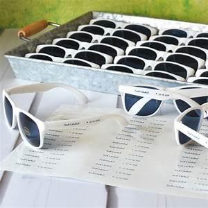 personalized white frame wedding sunglasses favors With personalized sunglasses wedding favors
