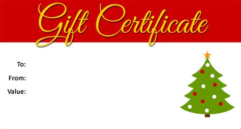 christmas gift certificate templates word  psd