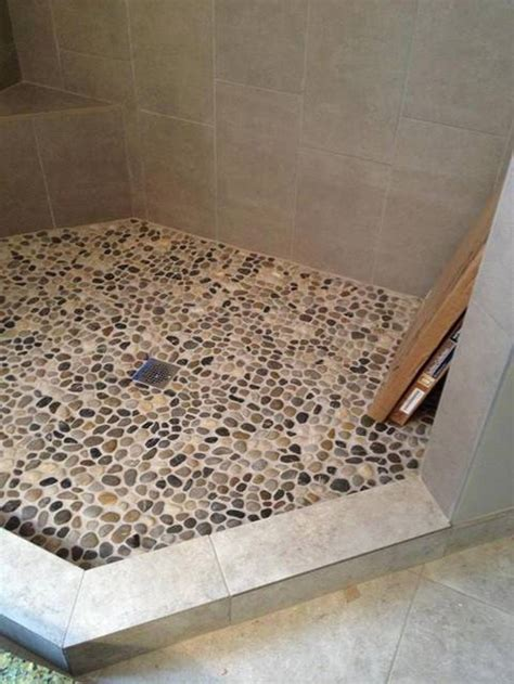 pebble rock shower floor 26 nice pictures and ideas of pebble bath tiles
