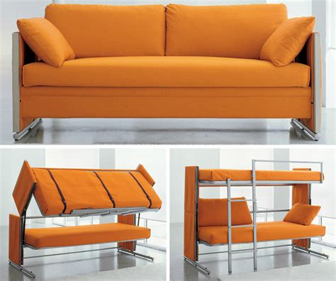 bunk bed settee doc transforms from sofa to bunk beds with one