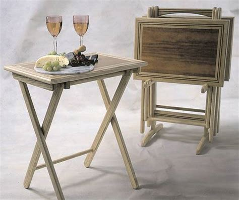 wooden tv trays with stand folding tray tables woodworking plan woodworkersworkshop 1964