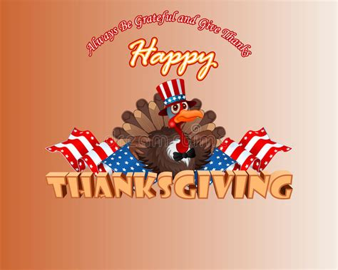 thanksgiving background  cartoon turkey wearing