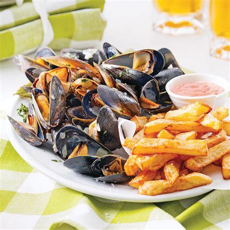 cuisine santé express moules frites à la belge recettes cuisine et nutrition pratico pratique