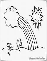 Mewarnai Gambar Pelangi Pemandangan Matahari Anak Buku Contoh Dan Sekolah Untuk Coloring Pdf Gratis Sketsa Warna Desa Paud Sekolahan Tk sketch template