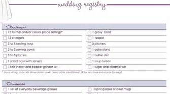 wedding registry our free wedding registry checklist popsugar food