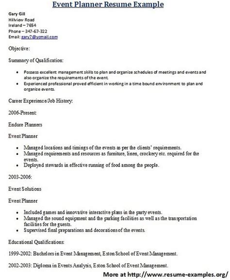 resume sle resume and resume cover letters on