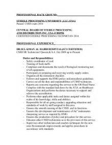 sterile processing manager resume sle sterile processing tech resume ebook database