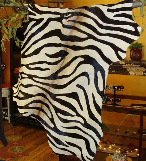 Zebra Print Cowhide - zebra print cowhide rug best decor things