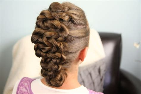 twisted zig zag hairstyle for kids adults hair