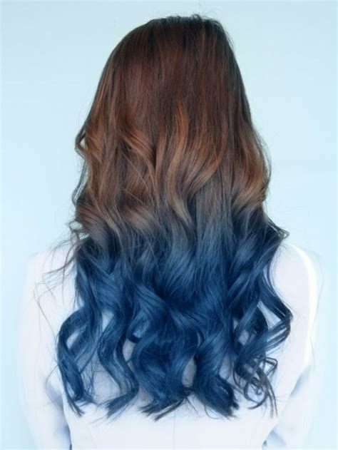 how to style your ombre hair 1001 ideen f 252 r coole frisuren zum thema quot blaue haare quot 4509