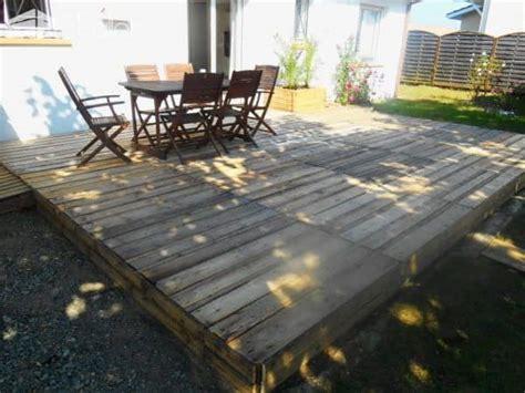 terrasse en palette pallet terrace deck  pallets