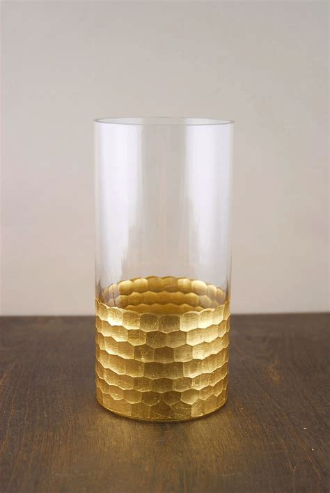 Gold Vases by Gold Honeycomb Cylinder Vase 8 Quot X 4 Quot